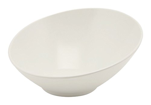 Genware Nev-melslb-30 oblique Bol de buffet, 30 cm x 29 cm x 13 cm, Blanc Mélamine