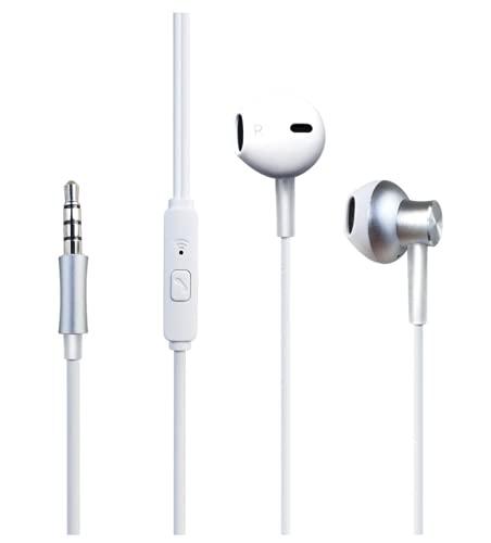 WIMITECH Cuffie con Microfono, Auricolari con Filo, Cuffiette In-Ear, Alta Qualità per l Ascolto della Musica,Compatibile con Apple Samsung Huawei