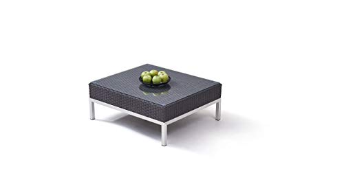 Table en polyrotin et INOX Silva 85 cm - Anthracite