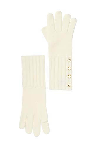 Michael Michael Kors Women`s Ribbed Knit Gloves (Cream(29537586C-151), One Size)