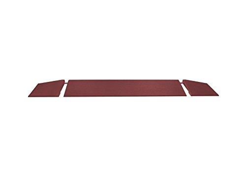 RO-FLEX Lot de rampes de bordure professionnelles 1000/45 mm (rouge-marron)