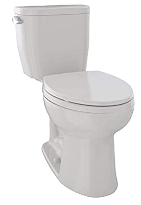 TOTO CST244EF#12 Entrada Two-Piece Elongated 1.28 GPF Universal Height Toilet, Sedona Beige