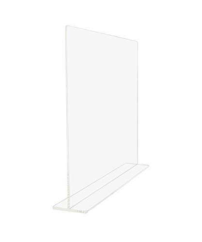 SOURCEONE.ORG Premium Clear Acrylic Sneeze/Splash Guard Counter Top Protector (Flat Top)