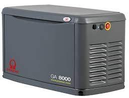 Pramac GA8000 Stromerzeuger für Elektrogene, sehr leise, mit Gas oder LPG, einphasig, mit AVR 8 kva 6,4 kw