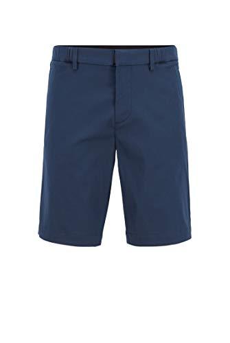 BOSS Herren Liem4-10 Slim-Fit Shorts aus Strukturiertem, elastischem Baumwoll-Mix