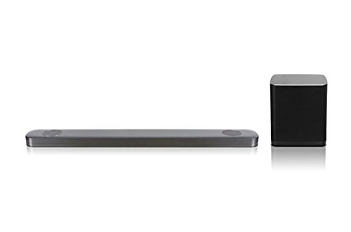LG SJ9 5.1.2 Sound Bar (500 W, subwoofer wireless, Dolby Atmos) argento scuro