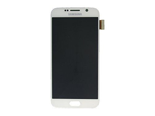 Samsung G920 F Galaxy S6 LCD Touch Screen Display Glas Front weiß Original Neu mit Service Pack
