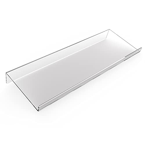 Computer Keyboard Stand-Clear Acrylic Keyboard Tray with Rubber mat,Acrylic PC Keyboard Holder Tilted Computer Keyboard Stand for Ergonomic Easy Typing,Computer Gaming and Working at Home and Office