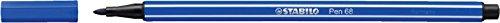 STABILO Pen 68–Lot de 1Filzstifte mittlere Spitze Blau marineblau