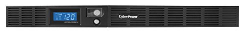 CyberPower OR700LCDRM1U Smart App LCD UPS System, 700VA/400W, 6 Outlets, AVR, 1U Rackmount