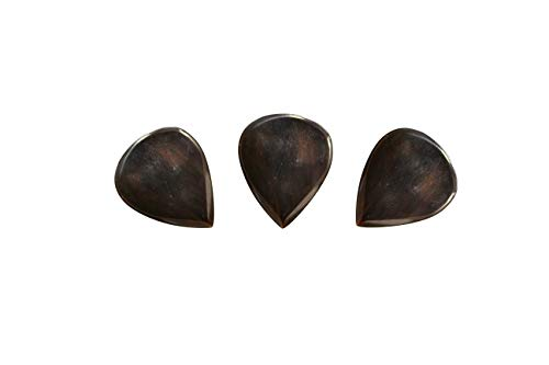 PICKMANN Jazz Exotic Guitar Picks Plectrums Value Pack of 3 for Archtop Jazz Guitar & Electric Guitar Made from Cattle Horn