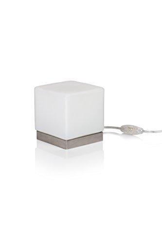 MURANO LED Tischlampe Kubik Tavolo 2 weiß