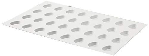 Martellato Plastique Forme Emporte-pièce en Forme d'œuf, 60 x 40 cm, Blanc