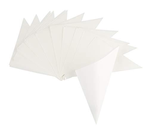 Rico Design Spitztüten 15 Stück in Weiß - Candytüten lebensmittelecht 170 x 170 mm