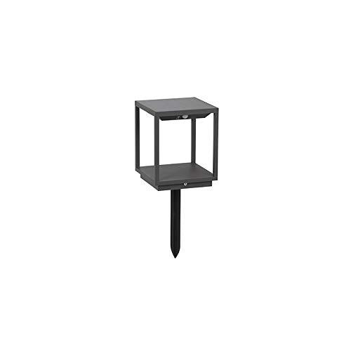 QAZQA Modern Außenleuchte/Sockelleuchte inkl. Solar, Bewegungsmelder und Dämmerungsschalter - Volendam/Außenbeleuchtung Aluminium Quadratisch / (nicht austauschbare) LED Max. 1 x 3.5 Watt