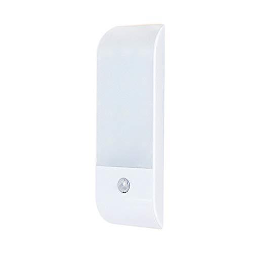 Lixada LED-nachtlampje met bewegingsmelder LED-licht, USB oplaadbare nachtlamp kastlamp met 3 modi (auto/on/off), oriëntatielicht voor kinderkamer, hal enz. (12LEDs) [energieklasse A++]