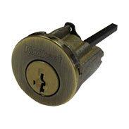 クイックセット 交換シリンダー (玄関用ハンドル・デッドロック用) KD-5 (アンティークブラス)