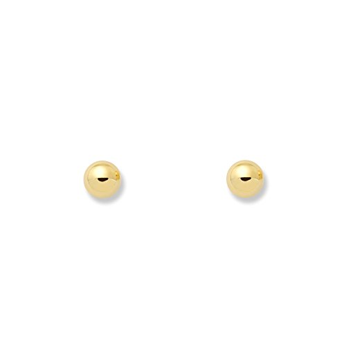 Monde Petit T1678P - Pendientes de bebe/niña oro 18 kts. de bola lisa 3.5 mm