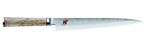 Miyabi 234378-241-0 Sujihiki Sashimi Messer, Stahl, 24 cm, silber / birke, 44,8 x 8,5 x 3,5 cm