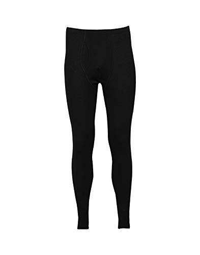 Dilling Lange Unterhose für Herren - aus 100% Bio-Merinowolle Schwarz XL