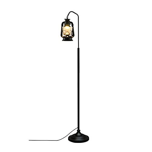 Floor DL Lámpara De Pie Retro Nostálgica para Sala De Estar, Utilizada En Sala De Estar, Oficina, Dormitorio, Lámpara De Árbol Vertical, Linterna De Balcón Simple De Estilo Industrial
