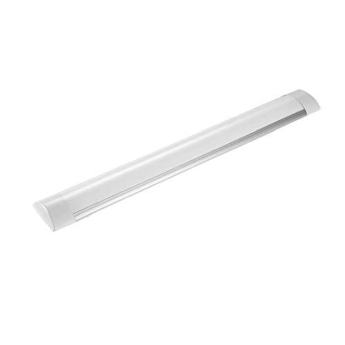 2FT 6000-6500K Daylight Batten Light LED Linear Wide Tube Ceiling Lights for Indoor Use IP20, 20Watt Cool White