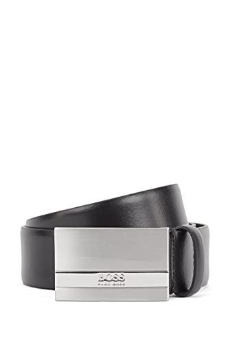 BOSS Herren Baxton Gürtel aus italienischem Leder mit Logo-Gravur an der Koppelschließe