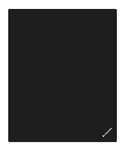 Bauhutte デスクごとチェアマット BCM-160BK ブラック 特大サイズ