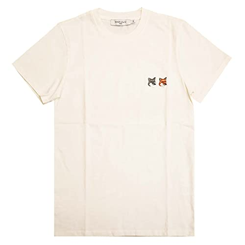 [メゾン キツネ]MAISON KITSUNE 半袖Tシャツ BU00103K J0008 T-SHIRT FOX HEAD PATCH メンズ LATTE sizeS [並行輸入品]