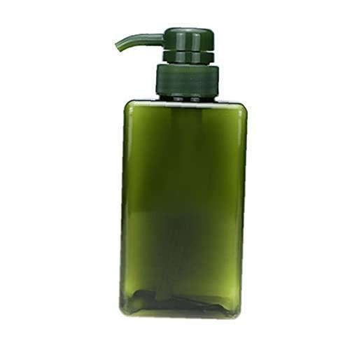 Pompa Per Bottiglia Di Shampoo Ricaricabile Tipo Di Spinta Tipo Vuoto Dispenser Di Lozione Di Plastica Vuoto 450ml Bottiglia Di Gel Doccia Verde Vuoto