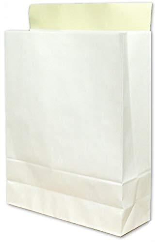 宅配袋 大 Lサイズ 100袋 テープ付き 白色 無地 国産品 大手運送会社と同サイズ (たて)405×(よこ)320×(マチ)110mm bagL 晒120g ベロつき