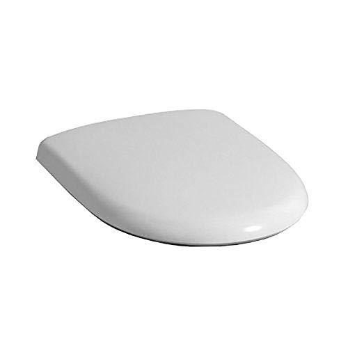 Keramag 574410000 WC-Sitz 4U weiß mit Absenkautomatik-Deckel und Befestigung aus Metall, 47 x 37 x 6 centimeters