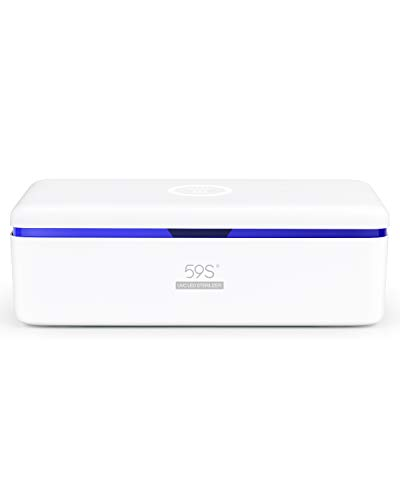 2020 New UV Light Sanitizer,UV LED Sterilizing Box for Mobile Phone,Glasses,Watches,Nail Tool,Beauty Tool with 8 LEDs 59S S2