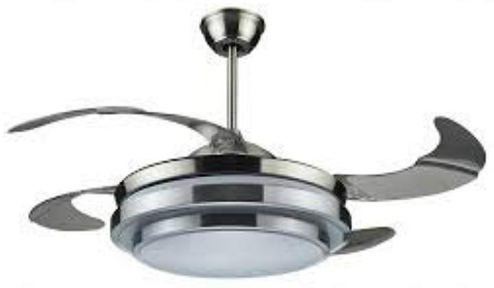 Ventilatore da soffitto con luce e telecomando 4 pale a scomparsa richiudibili dcg vecrd47tl VECRD47TL