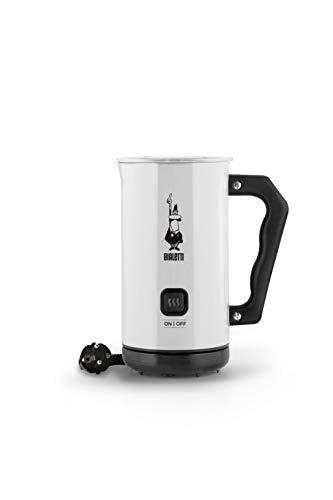Bialetti Milk Frother Elettrico, Montalatte per cappuccino, capacità 150 ml cappuccino o 300 ml latte caldo, Bianco