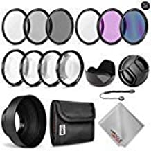 Zeikos 52MM Multi-Coated UV-CPL-FLD-ND2-ND4-ND8 Professional Lens Filter Kit, Macro Close-Up Filter Set (+1 +2 +4 +10), Lens Cap and Lens Cap Keeper with Pouch and Microfiber Cloth