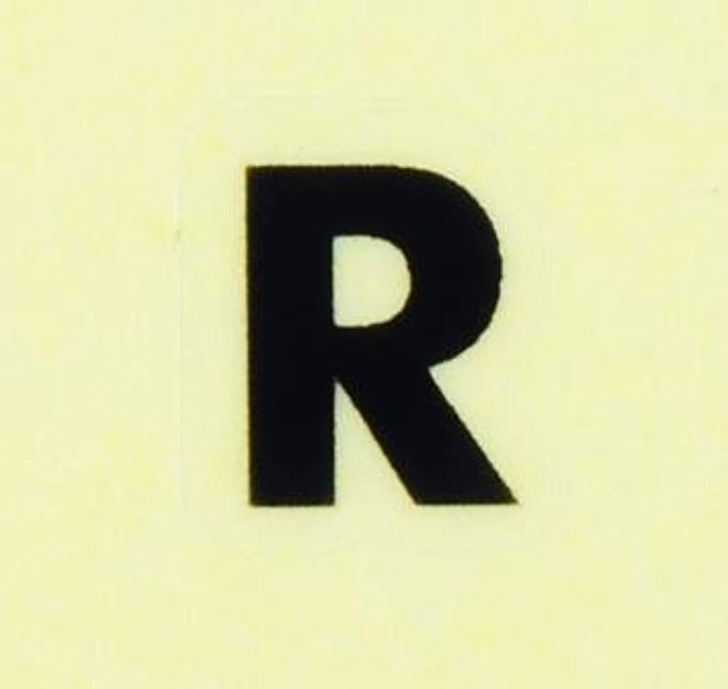 のスコアアパートマネージャーイニシャルネイルシール【アルファベット】2ゴシック(R)BK/各1シート9枚入