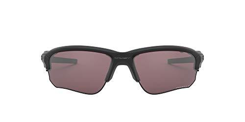 Oakley Men's Flak Draft (a) Polarized Iridium Rectangular Sunglasses, Matte Black, 70 mm
