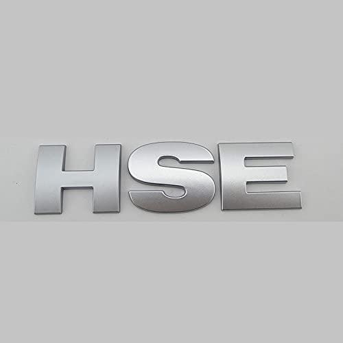 BYTT Freelander Letrero insignia insignia emblema HSE etiqueta engomada de la letra del coche para (nombre del color: plata)