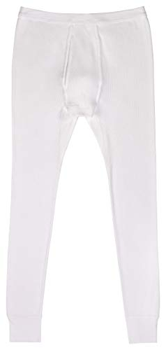 AMMANN Unterhose lang mit Eingriff Doppelripp in weiß Größen 5-8 Größe 7