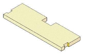 Deflettore in vermiculite ORIGINALE MCZ cod.41151401000