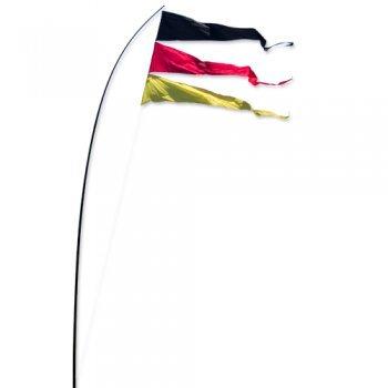 CIM Fahnen - Bogen Banner Team Germany - UV-beständig und wetterfest - Abmessung: 160x75cm - inkl. Teleskopstab und Bodenanker (Team Germany)