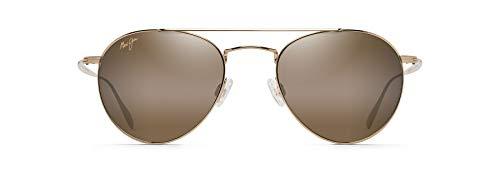 Maui Jim Piscis - Gafas de sol cuadradas, Dorado (Dorado/Bronce (Gold/HCL Bronze Polarized)), Small