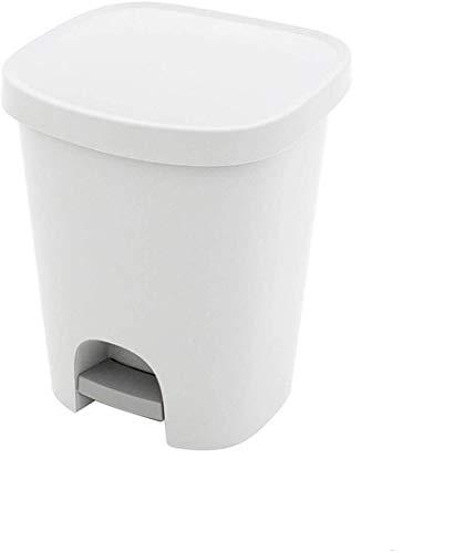 ORYX 5476010 Cubo Basura Con Pedal 25 Litros Plastico Blanco