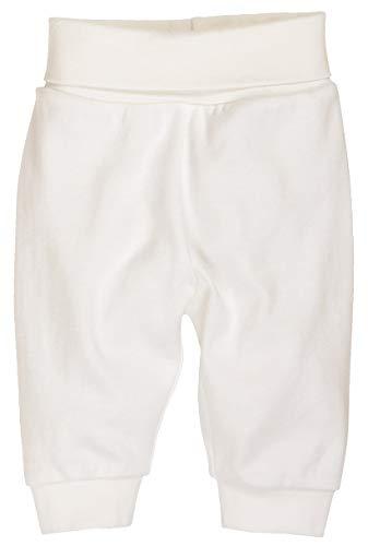 Schnizler Kinder Pump-Hose aus 100% Baumwolle, komfortable und hochwertige Baby-Hose mit elastischem Bauchumschlag, Weiß (Natur 2), 80