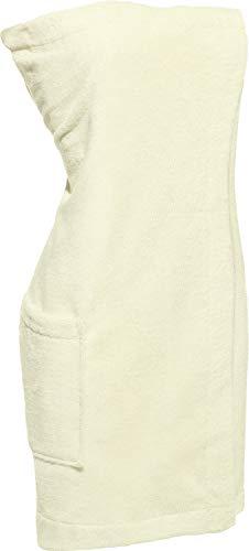 Erwin Müller Sauna-Kilt, Saunatuch Damen Frottee Natur, Größe 75x190 cm - verstellbar mit Druckknopfleiste und Gummizug, praktische Tasche (weitere Farben, Größen)