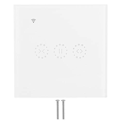 Carcasa ABS Función de Temporizador de Interruptor Inteligente WiFi Interruptor táctil Control Remoto Inteligente para iOS/Android OS Adecuado(White Cover (2272983))