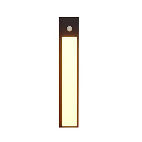 Luz para armario con sensor de movimiento, 31 LED para iluminación nocturna bajo el armario, iluminación para armario magnética recargable de 800 mAh para cocina, dormitorio