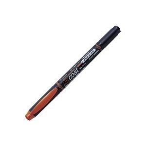 ( お徳用 30セット ) トンボ鉛筆 蛍光マーカー/蛍コート 【太字・細字/茶】 ツインタイプ WA-TC31