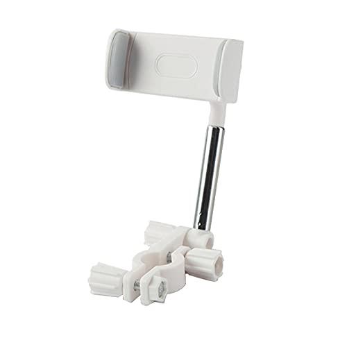Soporte para teléfono con espejo retrovisor Soporte telescópico para automóvil Soporte giratorio de 360 ° Soporte para asiento delantero de automóvil para todos los teléfonos